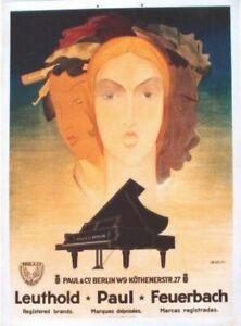 Original vintage poster PAUL PIANO MANUFACTORY BERLIN c.1925