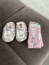 baby set  Strumphose / Leder Hausschuhe
