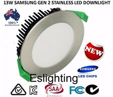 12W SAMSUNG FROSTED STAINLESS DIMMABLE LED DOWN LIGHT DOWNLIGHTS COOL WHITE