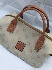 Dooney & Bourke DB Signature Canvas Leather Doctor bag Brown Purse Handbag