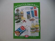 advertising Pubblicità 1989 F. LLI REBECCHI VALTREBBIA - RIVERGARO