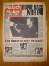MELODY MAKER 1977 JUL 16 DAVID BOWIE LOW SEX PISTOLS