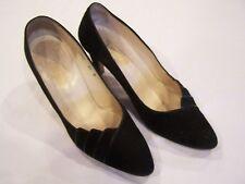 I. Magnin black velvet heels/pumps/shoes, sz. 8.5B