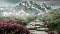 MOUNTAIN LANDSCAPE CANVAS PICTURE  WALL ART 20X30 INCHES