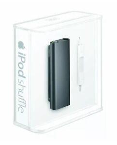Apple iPod shuffle 3rd Generation 4GB Black NOB w/ Cable & Earphones Bundle