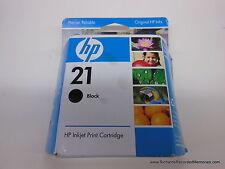 HP 21 Black Inkjet GENUINE ink NEW IN BOX Officejet Deskjet C9351AN SHIPS FREE!