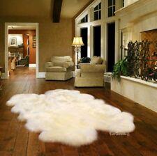 Accent Rug, Quatro, White Sheepskin, Thick Luxury Faux Fur 4' x 6'