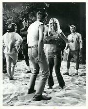 PETER DEUEL PETE DUEL HEATHER NORTH NAVEL DANCE ON BEACH GIDGET '65 ABC TV PHOTO