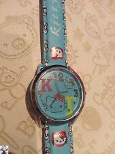 Reloj Hello Kitty azul + regalo pendientes