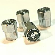 4x tapas de válvula calavera Skull esqueleto negro car auto tuning Valve turismos