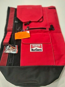 Vintage Marlboro One Strap Sling Bag Duffle Pack Red Logo Large Heavy Duty New