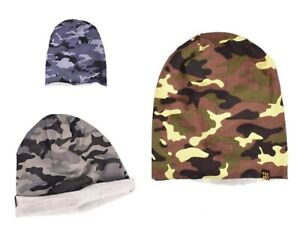Unisex Soft Cotton Mens Womens Beanie Hat Camouflage Sport Running Cycling