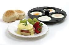"Norpro Nonstick 4 Egg Poacher For 10-12"" Pans Or Skillets, Kitchen Cooking 992"