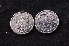 Poland Polish 10 Grosz 2013 Republic Coin zł Eagle gr Groszy