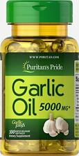GARLIC EXTRACT 5000 Mg Support Cardiovascular Health Pills 100 Softgels Capsules