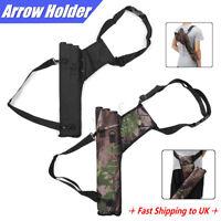 Archery Arrow Holder 3 Tube Bag Adjustable Back Waist Quiver Strap Camo   L7