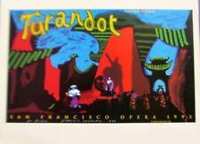 David Hockney Mini- Reprint Exhibition Poster for San Francisco Opera Turandot