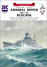 German Cruiser Admiral Hipper Or Blucher Paper Waterline Model Scale 1:400
