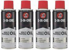 4 x 3-In-1 Multipurpose Oil Lubricates Cleans Prevents Rust Spray 200ml