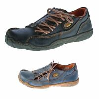 Comfort Damen Leder Schuhe TMA 1905 Schwarz Rot Blau Grün Used Look Halbschuhe