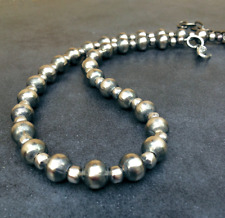 Navajo Pearls Silver Native American Necklace ~ Style#108