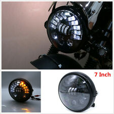 1Pc 7 Inch Round LED Headlight with Headlight Shell Housing Hi/Lo Beam Projector