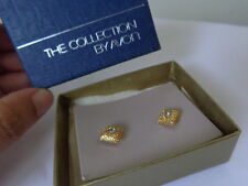 US AVON Vintage Sparkling Crystal Swarovski Stud Earrings Jewelry Collection