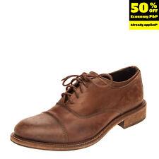 Rrp €175 Daniele Alessandrini Leather Oxford Shoes Mismatch L40 R39 Worn Look