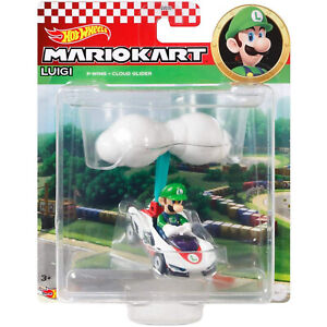 Hot Wheels Mario Kart Luigi P-Wing Cloud Glider Car NEW IN STOCK