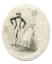 Eugène DEVÉRIA (1808-1865) Etude  - La Danse - Dessin original ancien