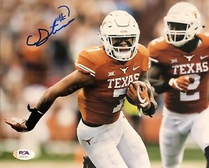Caden Sterns Signed Autographed Texas Longhorns 8x10 Photo Hook Em Psa/Dna