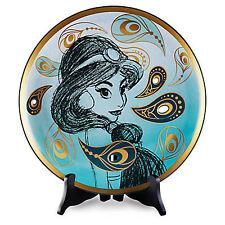 """Disney D23 Aladdin THE ART OF JASMINE 14"""" Decorative Collector's Plate LE 500"""