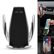 10 Вт автоматическое Ци беспроводное зарядное устройство автомобильный быстрый крепление зажим держатель для телефона Air Vent