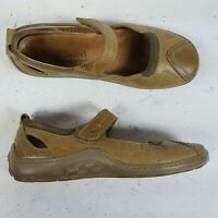 Josef Seibel Mary Jane Beige Leather Walking Flats Womens Size 37 / 6.5