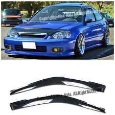 Fits 96-00 Honda Civic 2Dr Window Visors JDM style Rain Guard EM1 SI Coupe