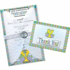 First Communion Party Deluxe Imprintable Invitation Kit - New / Sealed