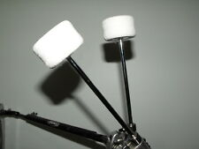 Prism Siafu Felt Bass Drum Beater Chrome Shaft White Head Medium Hard