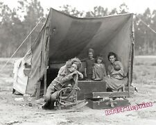 Photograph of Migrant Mother Florence Thompson & Family  1936c   8x10