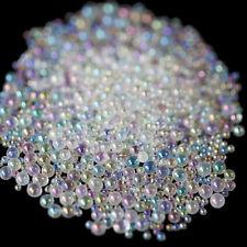 Mini Bubble Beads 3D Nail Art Drop Decoration Manicure 1-3mm Mixed Mermaid Color