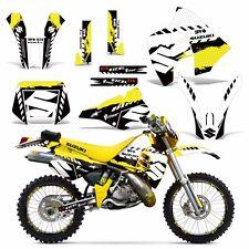 Decal Graphic Kit Suzuki RMX 250 RMX250 Dirt Bike Sticker w Backgrounds 89-98 WR