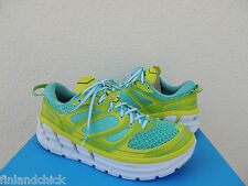 HOKA ONE ONE CONQUEST 2 ACID/ WATERFALL RUNNING SHOES, US 10.5/ EUR 43 1/3 ~ NEW