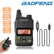 Baofeng BF-T1 Mini Walkie Talkie Two Way FM Radio + Earpiece + Programming Cable