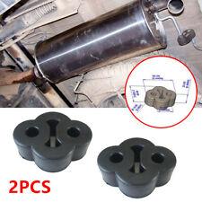 2x 2 Hole Rubber Car Exhaust Tail Pipe Mount Bracket Hanger Insulator Anti-shake