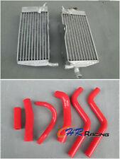 For HONDA CR250R CR250 CR 250 CR 250R 1988 1989 88 89 Aluminum Radiator+hose RED