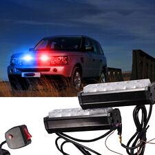 Red/Blue White Police Dash Emergency Light Bar Warning Flashing Light Colorful