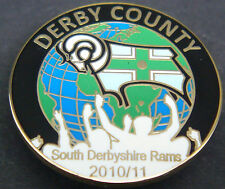 DERBY COUNTY FC 2010-11 SOUTH DERBYSHIRE RAMS SUPPORTERS CLUB Badge 25mm Dia