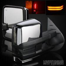 For 88-00 Chevy/GMC C/K Power/Heat Defrost Chrome Tow Mirrors/Smoke COB Signal