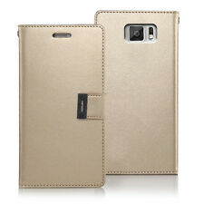 Korean Mercury Rich Diary Double Wallet Case Cover for Samsung Galaxy S6 - Gold