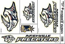 5 Nashville Predators Nhl® Static Clings - Mint Set! Great Hockey Decor
