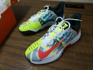 NIKE Air Zoom GP Turbo HC Agassi UK 10.5 Tennis Shoe